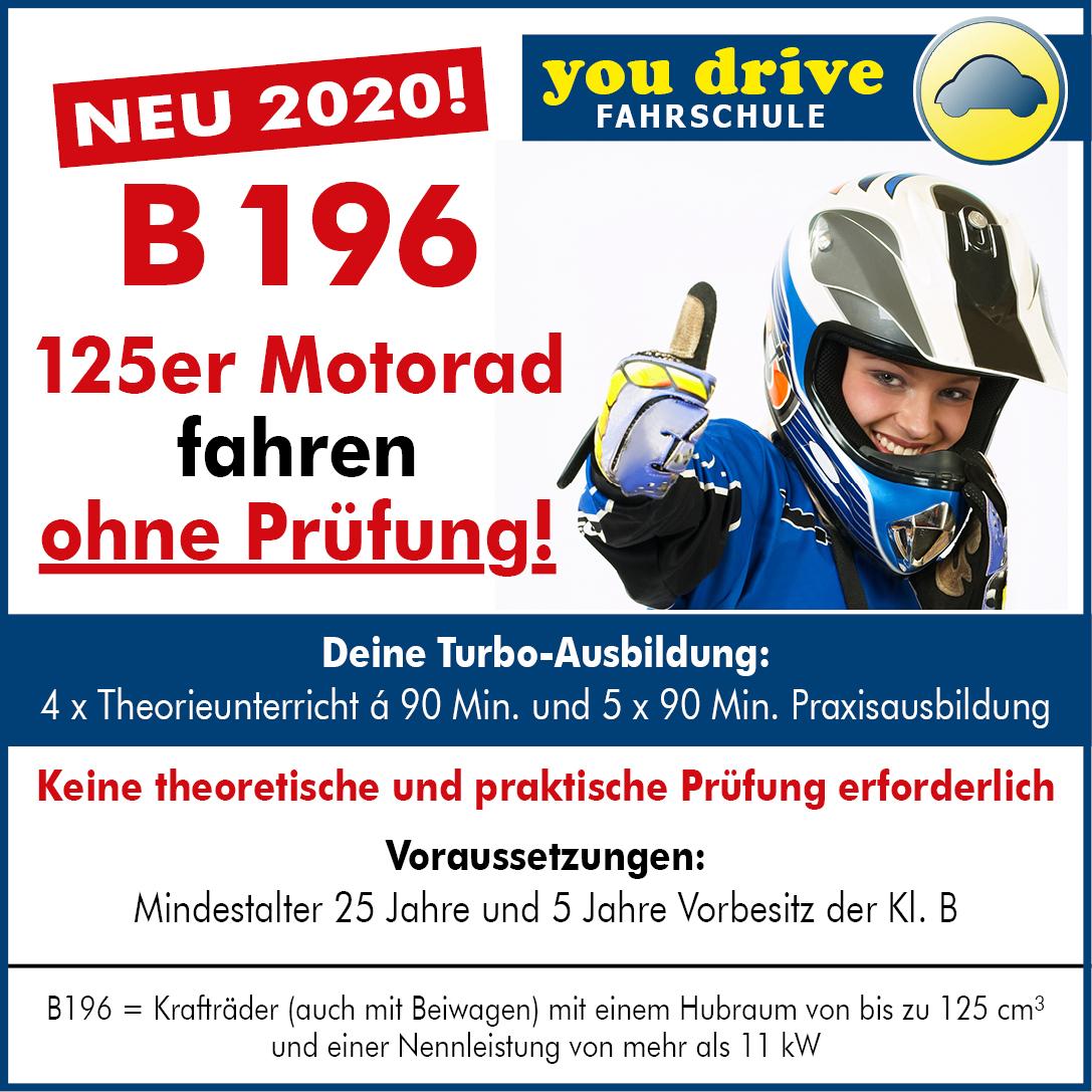 B196 - 125er Motorrad fahren ohne Prüfung