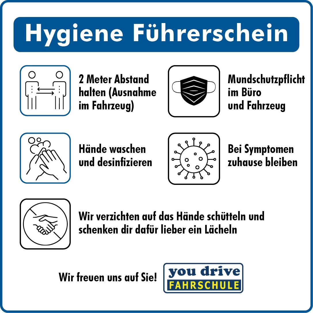 Hygieneregeln in der Fahrschule